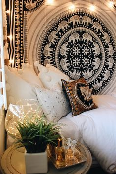 Bedroom Vibes✨ Moon Phase Wall Hanging, Mandala Tapestries, Pillow Covers & many more ☽ ✩ Save 25% off all orders with code PINTERESTXO at checkout | Bohemian Boho Moon Phase Wall Hanging Claire Bloom Pillow Covers Everwear Bracelet Guatemalan Bag by Lady Scorpio | Shop Now LadyScorpio101.com | Design By Kaitlyn Johnson @kaitlynjohnsondesign | @LadyScorpio101