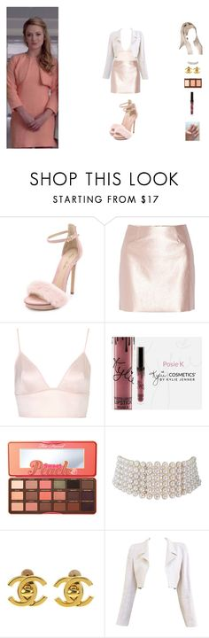 """hanging out with chanel #3"" by unicorn-923 ❤ liked on Polyvore featuring Monique Lhuillier, Morgan, Topshop, Too Faced Cosmetics, Marina J. and Chanel"