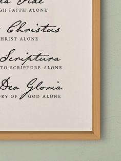 Scriptura deo sola sola gloria soli fide gratia solus christus sola Five solas
