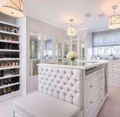 53 Elegant Closet Design Ideas For Your Home. Unique closet design ideas will definitely help you utilize your closet space appropriately. An ideal closet design is probably the only avenue . Master Closet Design, Walk In Closet Design, Master Bedroom Closet, Wardrobe Design, Closet Designs, Diy Bedroom, Bedroom Closets, Bedroom Wardrobe, Wardrobe Closet