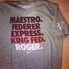 #RF #Shirt #Tshirt #T-shirt #tee #nike #niketennis #tennis #rogerfederer #federer #maestro #kingfed #federerexpress #roger maestro. federer express. king fed. roger