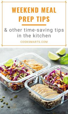 Weekend Meal Prep & Other Time-Savers in the Kitchen | Get easy meal prep ideas and tips for beginners from one of our Cook Smarts community members, along with practical ways you can save time cooking. | CookSmarts.com Make Ahead Meals, No Cook Meals, Easy Meals, Weekend Meal Prep, Easy Meal Prep, Cooking On A Budget, Easy Cooking, Cooking Tips, Cooking Stores