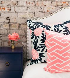 PRE SALE -- Navy Fleur Chinoise Pillow