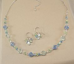 Necklace+and+Earring+Set+Bridesmaid+Jewelry+Something+by+Handwired,+$49.00