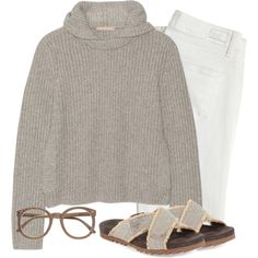Cozy Cashmere by simple-wardrobe on Polyvore featuring Michael Kors, Paige Denim and Brunello Cucinelli