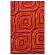 KAS Oriental Rugs Donny Osmond Home Escape 7906 Red Raindrops Area Rug - DOE790676X96