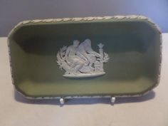 A Wedgwood Jasper small oblong tray. Toast Rack, Breakfast Set, Flower Spray, Wedgwood, Small Flowers, Butter Dish, Jasper, My Etsy Shop, Tray