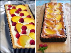 Peach And Raspberry Frangipane Tart—With Pictorial