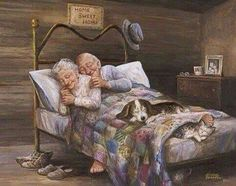 Stunning image - - from the clip art category animated Sleeping gifs & images! Vieux Couples, Old Couples, Mature Couples, Happy Couples, Grow Old With Me, Grandma And Grandpa, Old Love, True Love, Einstein