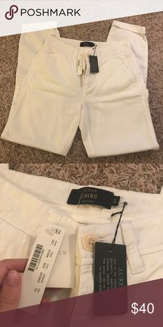 NWT white chinos Size 0T white chinos brand new with tags from jcrew J. Crew Pants Straight Leg
