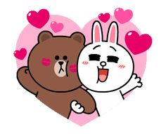 The perfect Brown Cony Cute Animated GIF for your conversation. Cute Love Lines, Cute Love Gif, Cute Couple Cartoon, Cute Love Cartoons, Cony Brown, Brown Bear, Cute Bear Drawings, Chibi Cat, Bunny And Bear