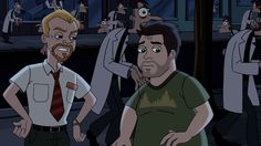 Phineas and Ferb Meets Shaun of the Dead / Don't really know the show all that well... but it's Shaun and Ed!