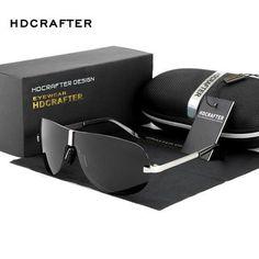 d6ebe517f6f6 HDCRAFTER Rimless Sunglasses men Polarized UV400 brand design pilot goggle  driving sunglasses for men male classic