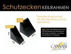 Plastik Schutzecken für Standard und XXL Keilrahmen - 100 Stück Tacker, Cards Against Humanity, Wedges, Canvas Frame, Packaging, Photo Illustration