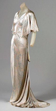 Jean Patou printed china silk gown, 1931.