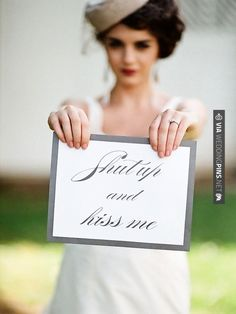 Sweet - OMG.  LOVE THIS! | CHECK OUT MORE GREAT BLACK AND WHITE WEDDING IDEAS AT WEDDINGPINS.NET | #weddings #wedding #blackandwhitewedding #blackandwhiteweddingphotos #events #forweddings #iloveweddings #blackandwhite #romance #vintage #blackwedding #planners #whitewedding #ceremonyphotos #weddingphotos #weddingpictures