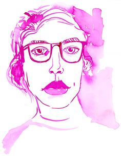 pink-red-sketches-pink_selfportrait