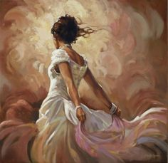 Mark Spain - Lady in White I