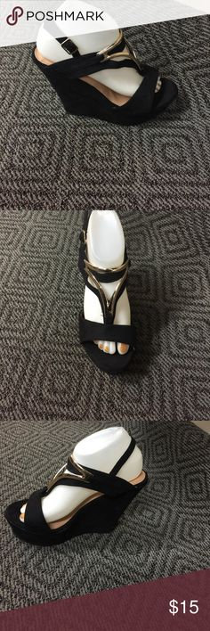 New black wedges New black wedges, very stylish Shoes Wedges