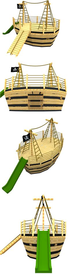 The small pirate ship playhouse plan, hosted on paulsplayhouses.com.
