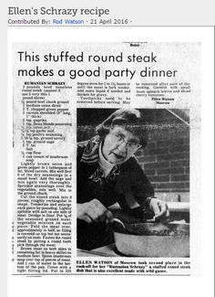 Ellen placed in a cooking contest for her Rumanian Schrazy. Her cooking legacy surpassed the bound of her family history and even landed in the local newspaper. What are some dishes you feel associate with your family memories best?