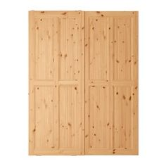 """IKEA - HURDAL, Pair of sliding doors, 59x79 1/8 """", , 10-year Limited Warranty. Read about the terms in the Limited Warranty brochure.The solid pine shows off the attractive grains and beauty mark knots that give each unique piece its own naturally grown, individual personality.Sliding doors allow more room for furniture because they don't take any space to open.Made of solid wood, which is a durable and warm natural material."""