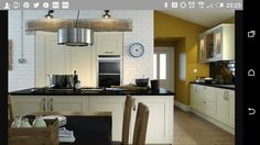 Wren living shaker sage timber range love the island and use of lighting to create a warm - Kitchen sukaldeak ...