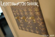 Light Switch Covers!!! Super cheap and easy DIY project that can work in any room of the home!!