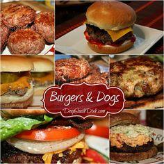 My favorite hamburger and hot dog recipes all from Deep South Dish.