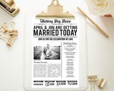 Customized Wedding Newspaper