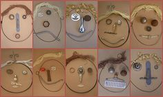 I liked the idea of making self portrait with loose parts. I would like to bring some wooden frames to make it a gift to take home for children..