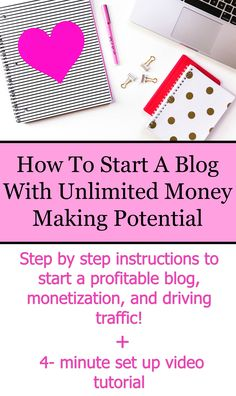 How To Start A Blog With Unlimited Money Making Potential. Creating a blog doesn't have to be hard. Here are step by step instructions to start a profitable blog, how to monetize your blog, and how to start driving traffic! Plus, there is a 4 minute video tutorial showing you exactly how to set up your website.