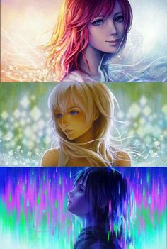 The backgrounds and realism are very nice! Especially Xion's purple and green rain.