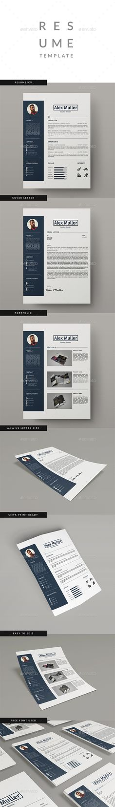 Resume Template InDesign INDD                                                                                                                                                                                 More