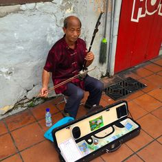 Local musician in Malacca