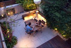 Urban garden designs by MyLandscapes London. Bamboo screening