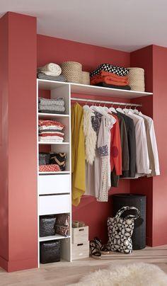 If you have a nice large walk in closet, you should have room for everything. You should have room … Ikea Closet Organizer, Bedroom Closet Storage, Closet Organization, Storage Room, Organization Ideas, Storage Ideas, Mini Dressing, Dressing Pas Cher, Closet Built Ins