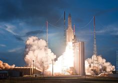 Arianespace company resumed its launching activities by performing the launch...