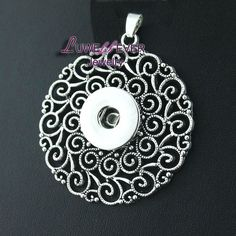 Wholesale flowers 042 Snap Button Jewelry Pendants Necklace Interchangeable Charm Jewelry For Women(fit 18mm button)