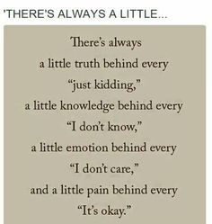 There's always a little...