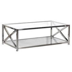 Criss Cross Steel Coffee Table