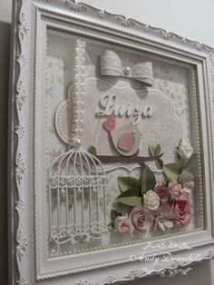 Scrapbook by Andy Donadello Altered Canvas, Altered Art, Crafts To Do, Paper Crafts, Princess Gifts, Baby Posters, Scrapbooking, Baby Kit, Diy Letters