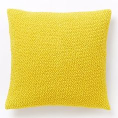 Cozy Boucle Pillow Cover - Citrus Yellow - $39 (less 20% is $31.20) + insert $12 (less 20% is $9.60)
