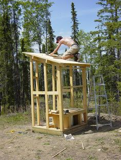 Ed & Diane Klettke's Vision: Spring 2007 - Building Outhouse - Wknd 3