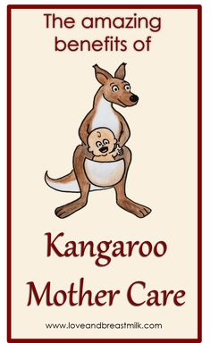 Kangaroo mother care - the best way, by far, to care for premature babies!