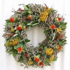 Creekside Farms Herb Wreaths. Made in the USA.  Every kitchen looks & smells great with a handcrafted herb wreath.  www.creeksidefarms.com