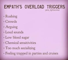 Crowds, feeling trapped, too much socializing, loud sounds. Empath Abilities, Psychic Abilities, Highly Sensitive Person, Sensitive People, Infp, Reiki, Intuitive Empath, Psychic Empath, Empath Traits