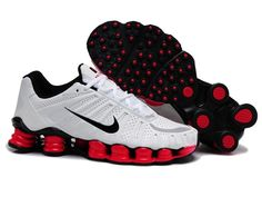 Nike Shox Mens White Tlx Shoes Red  $71.54 | www.popularshoesshop.com