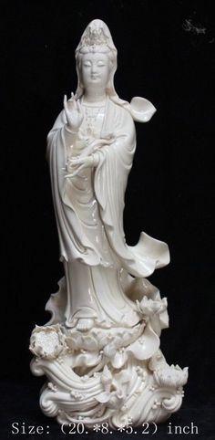 Height: 20.Inches/inches/Chinese dehua porcelain goddess guanyin bodhisattva