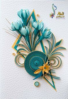 Neli is a talented quilling artist from Bulgaria. Her unique quilling cards bring joy to people around the world. Neli Quilling, Paper Quilling Flowers, Paper Quilling Cards, Quilling Work, Paper Quilling Patterns, Quilled Paper Art, Quilling Paper Craft, Paper Crafts, Quilling Butterfly